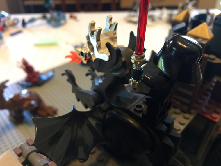 I got a little carried away with the Lego on this one. Pretty sure Darth Vader riding a dragon doesn't show up until Revelation.